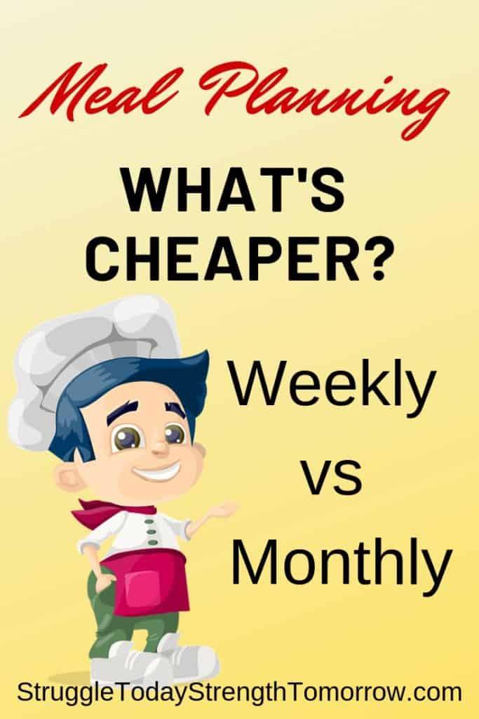Planificación de comidas semanal versus mensual, que es más barata y mejor para su presupuesto. ¿cuesta menos comprar con más frecuencia o realmente ahorra dinero? ¡ver por ti mismo!