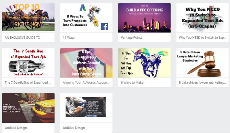 ejemplos de imagen de título creativo del blog de canva