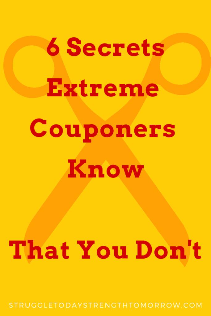 6 secretos que los cupones extremos saben que tú no. ¿Cómo ahorran tanto dinero cada vez que van de compras? tienen que saber algo especial! ¡aprende lo que es para ti!