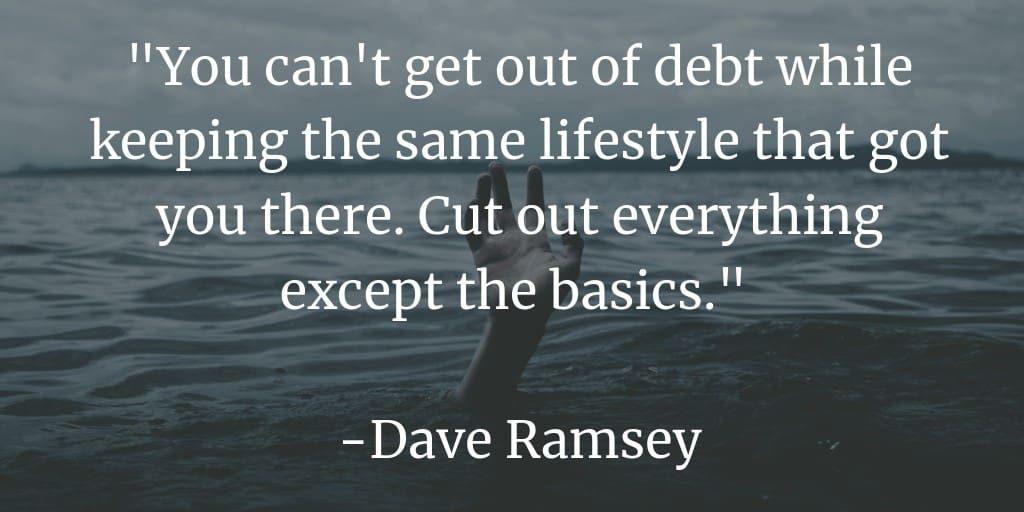 no puedes salir de deudas con el mismo estilo de vida