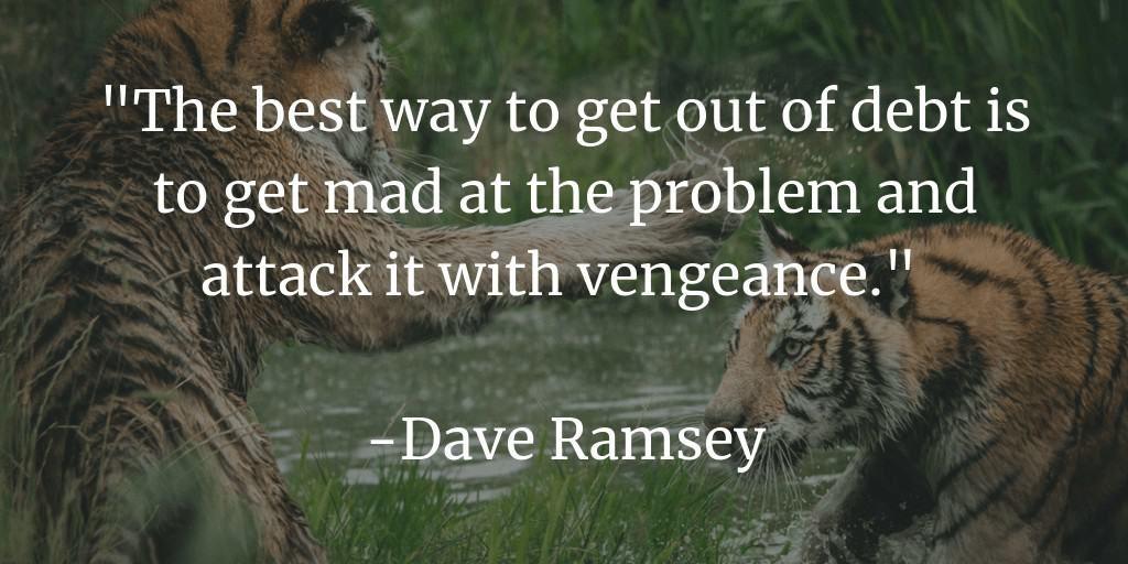 la mejor manera de salir de la deuda es enojarse