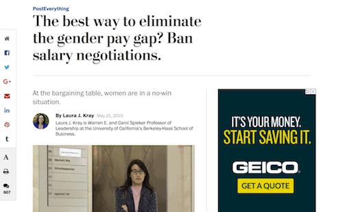 ¿La mejor manera de eliminar la brecha salarial de género? Prohibir negociaciones salariales