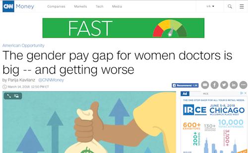 La brecha salarial de género para las doctoras es grande y empeora