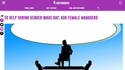 Para ayudar a reducir la brecha salarial de género, agregue gerentes femeninas
