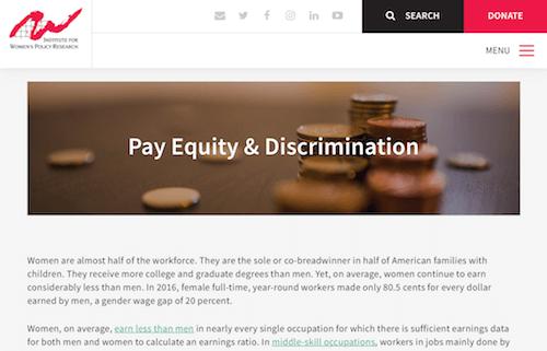Equidad salarial y discriminación