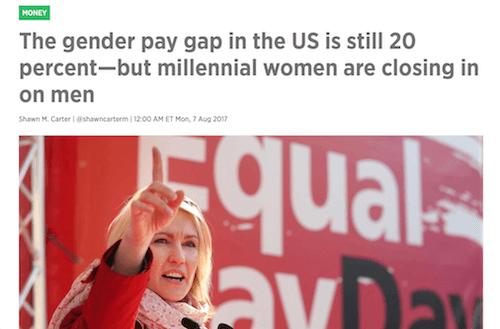 La brecha salarial de género sigue siendo del 20%, pero las mujeres milenarias se están acercando a los hombres