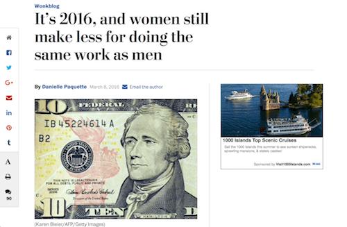 Es 2016, y las mujeres aún ganan menos por hacer el mismo trabajo que los hombres