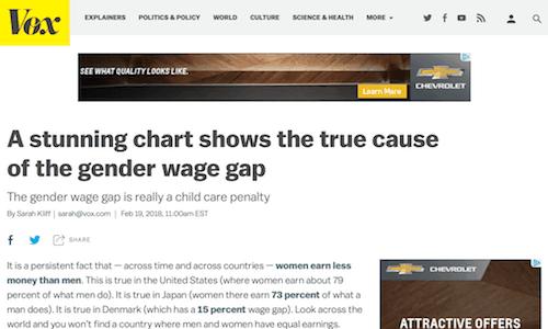 Un cuadro impresionante muestra la verdadera causa de la brecha salarial de género