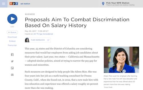 Las propuestas apuntan a combatir la discriminación basada en el historial salarial
