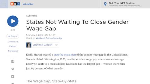 States Not Waiting To Close Gender Wage Gap