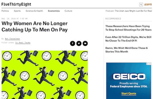 ¿Por qué las mujeres ya no se ponen al día con los hombres que pagan?