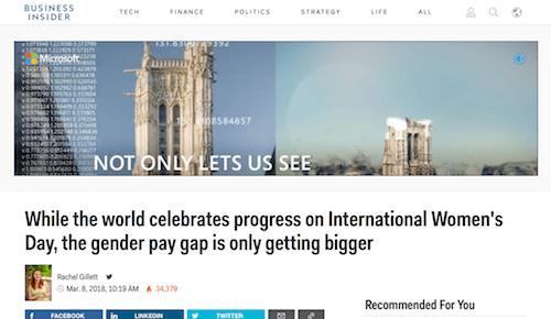 Mientras el mundo celebra el progreso en el Día Internacional de la Mujer, la brecha salarial de género solo se está haciendo más grande