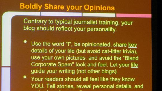 Una sólida filosofía de blogueo