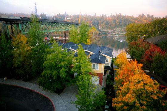 Mi condominio en otoño