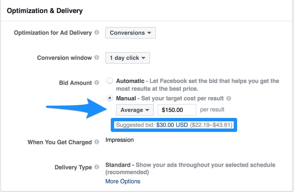 Cómo competir en la oferta sugerida de anuncios de Facebook