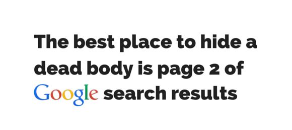 segunda página de resultados de google
