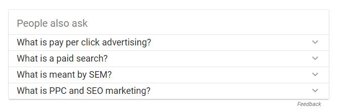 preguntas relacionadas cuentan con google