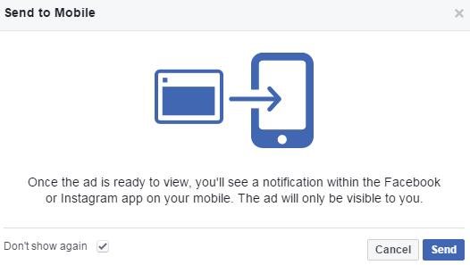 Facebook Creative Hub envía maquetas a dispositivos móviles