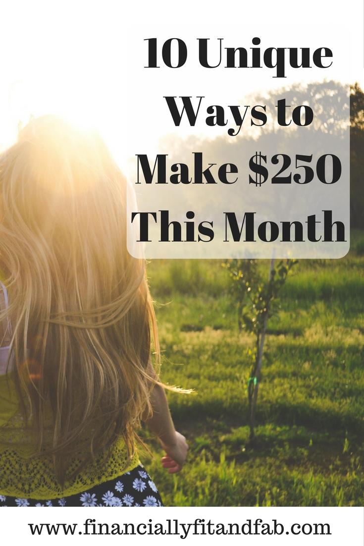 ¿Estás buscando ganar dinero extra este mes? o ahorrar dinero extra para Navidad? Vea estas 10 formas de ganar $ 250 este mes.