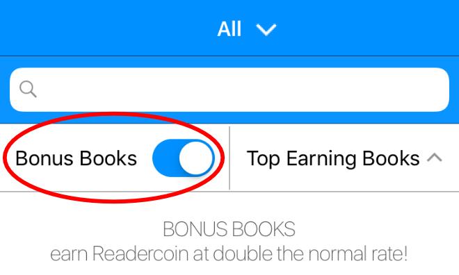 Libros de bonificación de Readercoin