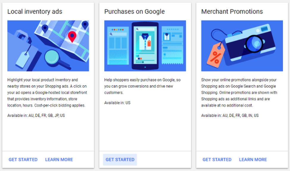 Centro de comerciantes beta de compras de Google