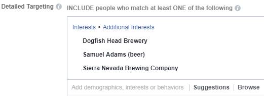 orientación de intereses de anuncios de la competencia de Facebook