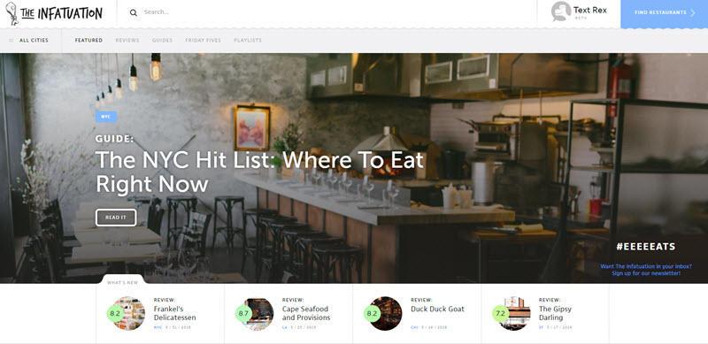 Blog diseño tendencias héroe imágenes ejemplo