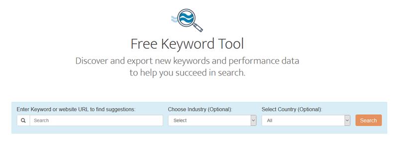 herramienta gratuita de palabras clave de la industria