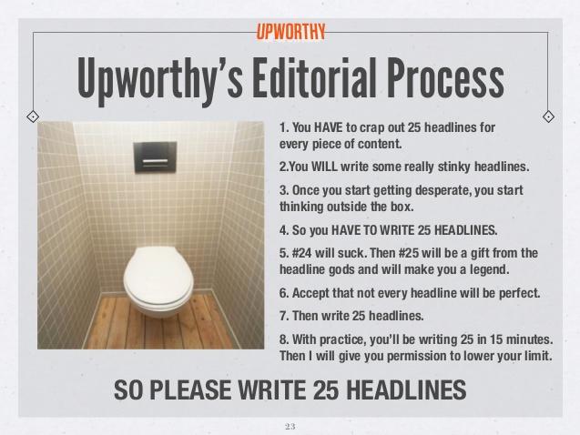 Brecha de curiosidad Upworthy 25 headline formula