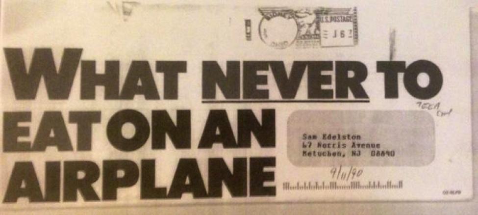 Gestión del tiempo de escritura Eat On Airplane