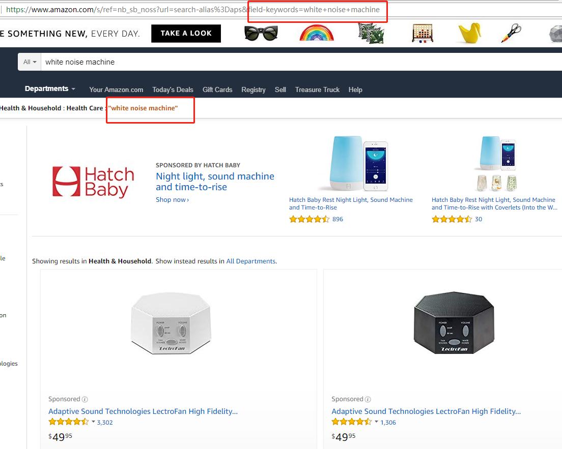 """Amazon-super-URL-AMZFinder-blog """"width ="""" 1104 """"height ="""" 883 """"srcset ="""" https://www.amzfinder.com/blog/wp-content/uploads/2018/09/Amazon-super-URL -AMZFinder-blog.png 1104w, https://www.amzfinder.com/blog/wp-content/uploads/2018/09/Amazon-super-URL-AMZFinder-blog-300x240.png 300w, https: // www .amzfinder.com / blog / wp-content / uploads / 2018/09 / Amazon-super-URL-AMZFinder-blog-768x614.png 768w, https://www.amzfinder.com/blog/wp-content/uploads/ 2018/09 / Amazon-super-URL-AMZFinder-blog-1024x819.png 1024w """"tamaños ="""" (ancho máximo: 1104px) 100vw, 1104px """"/></p> <p>Con esta página de búsqueda, obtendrá esta URL: https: //www.amazon.com/s/ref=nb_sb_noss? Url = search-alias% 3Daps & field-keywords = white + noise + machine</p> <p>A continuación, analizaremos en profundidad y analizaremos algunas métricas importantes de una URL de búsqueda en Amazon:</p><div class='code-block code-block-5' style='margin: 8px auto; text-align: center; display: block; clear: both;'> <div data-ad="""
