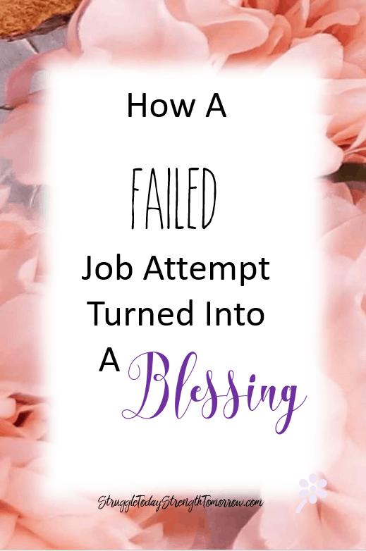 cómo un intento de trabajo fallido se convirtió en una bendición