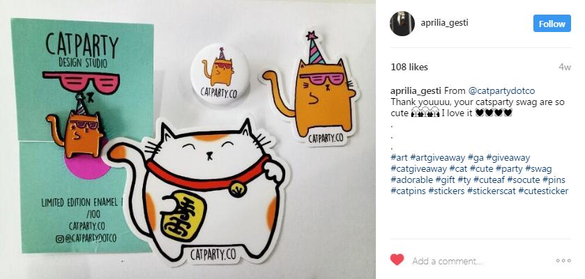 Publicación de anuncio de ganador de sorteos de Instagram