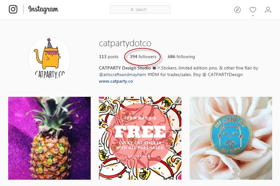 Estadísticas de seguidores de sorteos de Instagram