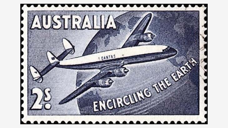 Sello de correo aéreo de sorteos de Instagram Australia