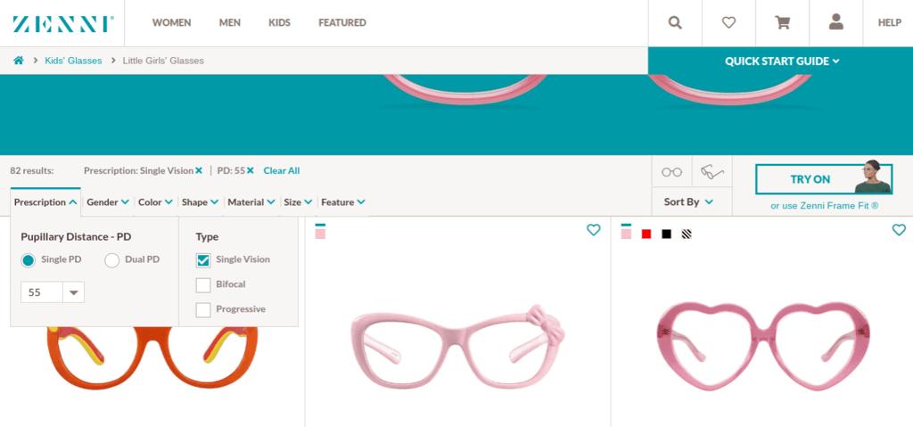 Cómo comprar gafas baratas en Zenni