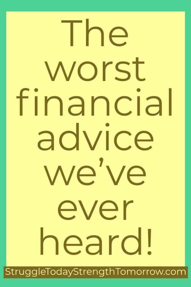 El peor consejo financiero que hemos escuchado. historias reales divertidas luchan hoy fuerza mañana