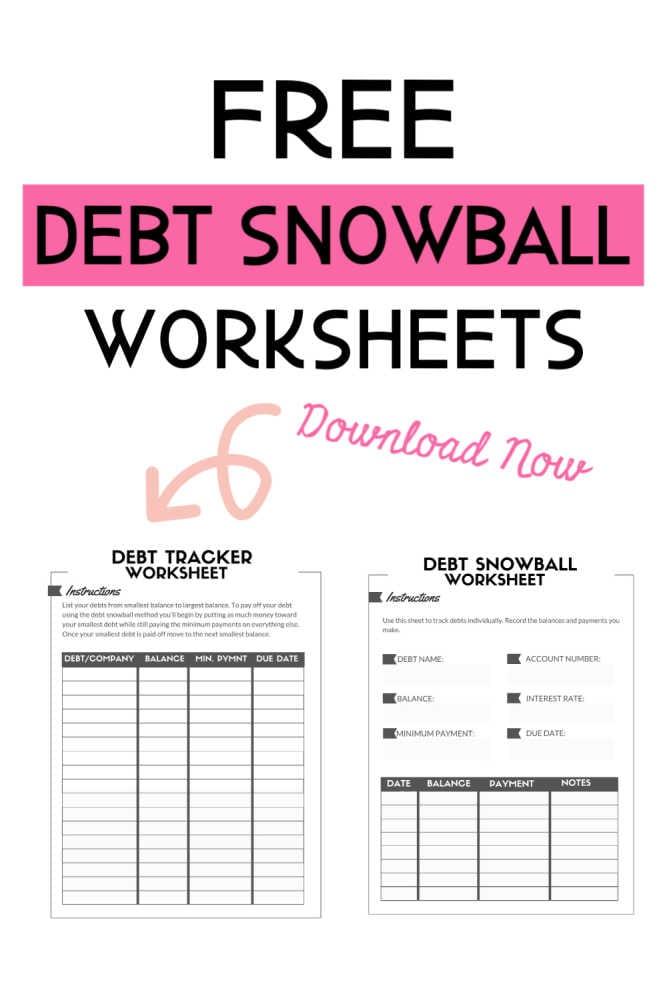 Hoja de trabajo de bola de nieve de deuda gratuita: aplasta tu deuda más rápido