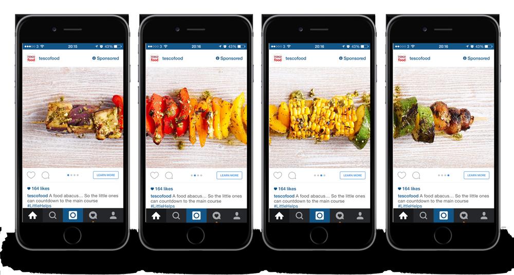 La publicidad en línea cuesta ejemplos creativos de anuncios de Instagram