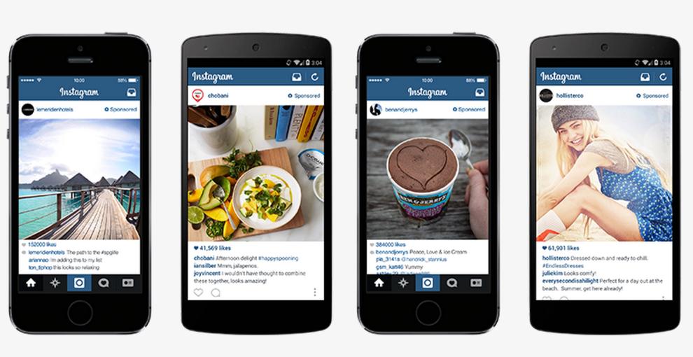 La publicidad en línea cuesta anuncios de Instagram
