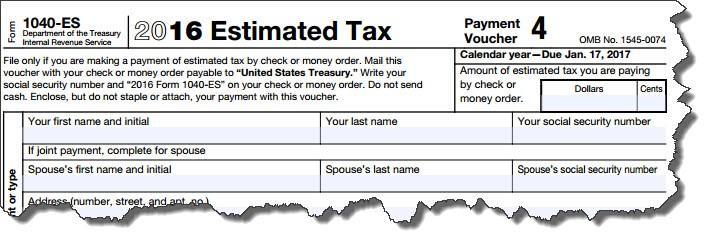 Guía independiente de impuestos Impuesto estimado del formulario 1040-ES del IRS