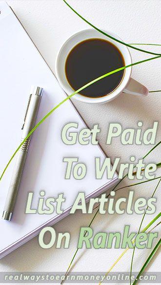 Trabaja en línea escribiendo artículos de lista para Ranker.