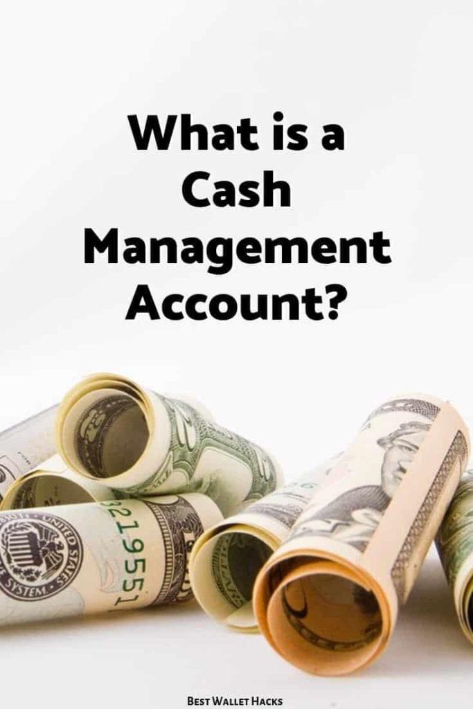 ¿Qué es una cuenta de administración de efectivo?
