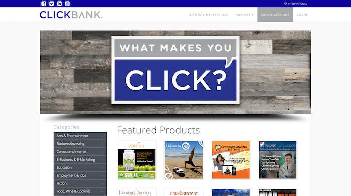 Sitio web de Clickbank