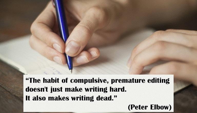 redacción libre cita de Peter Elbow