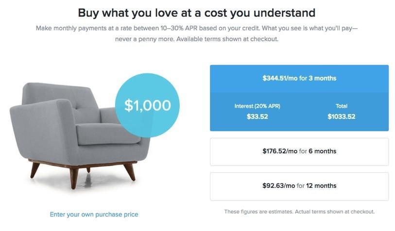 ejemplos de precios a plazos
