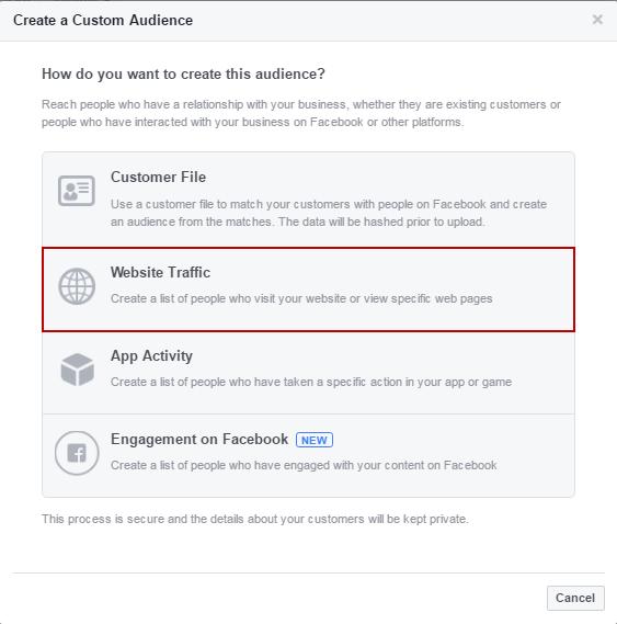 Facebook nutrir crear audiencias personalizadas
