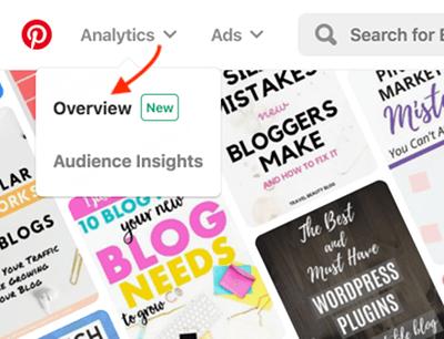Cómo abrir análisis de Pinterest