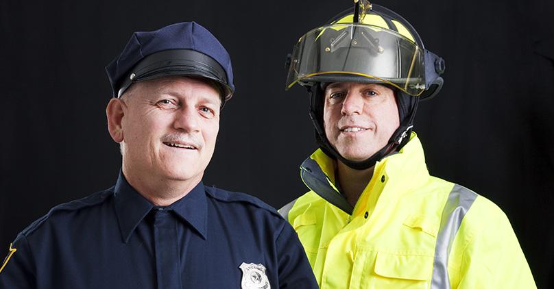 Oficial de policía y bombero