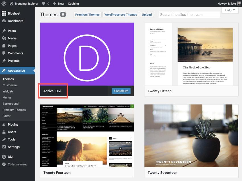 Cómo cambiar el diseño de su blog de WordPress: cómo instalar y activar un tema de WordPress